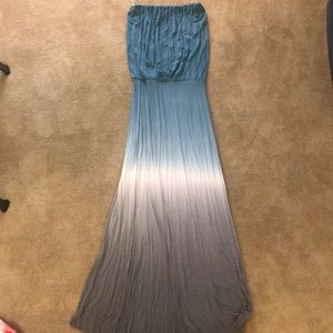 Young Fabulous & Broke Blue Maxi Dress